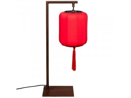 Hnědo červená stolní lampa DUTCHBONE Suoni