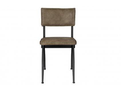 Tmavě zelená jídelní židle DUTCHBONE WILLOW s kovovou podnoží