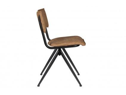 Kávově hnědá jídelní židle DUTCHBONE WILLOW s kovovou podnoží