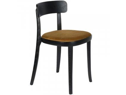 Okrově žlutá jasanová jídelní židle DUTCHBONE Brandon
