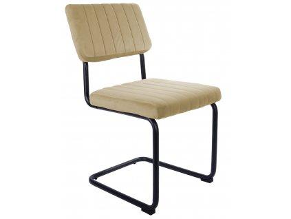 Pískově hnědá sametová jídelní židle Cornelia