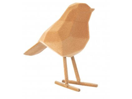 Oranžová sametová dekorace Birdie S