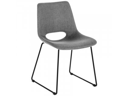 Světle šedá látková jídelní židle LaForma Ziggy