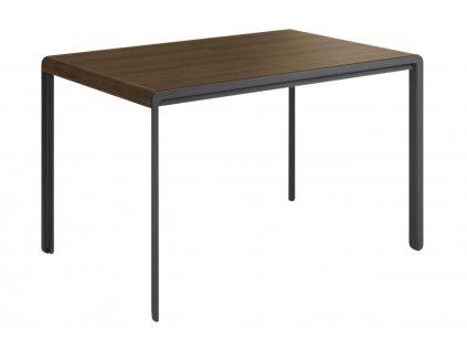 Ořechový rozkládací jídelní stůl LaForma Nadyria 120/160 x 80 cm