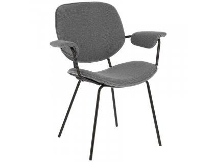 Světle šedá látková jídelní židle LaForma Naiquen