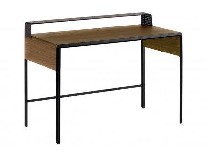 Masivní ořechový pracovní stůl LaForma Nadyria 120 x 55 cm s kovovou podnoží