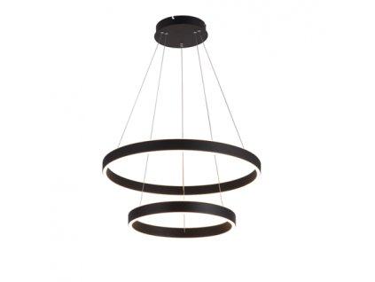 Černé kruhové kovové závěsné světlo Mayo