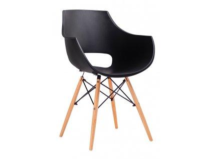 Černá platová jídelní židle Darius