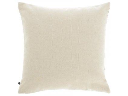 Béžový látkový povlak na polštář LaForma Nedra 45 x 45 cm