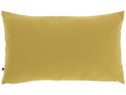 Hořčicově žlutý látkový povlak na polštář LaForma Nedra 30 x 50 cm