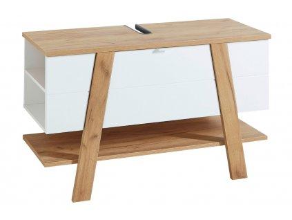 Bílá umyvadlová skříňka Germania Novolino 8160 111 x 46 cm