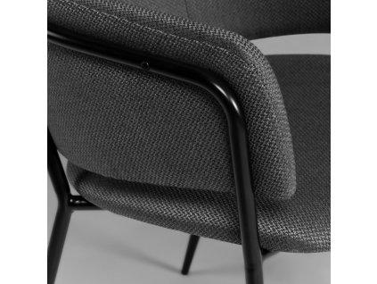 Tmavě šedá jídelní židle LaForma Konnie