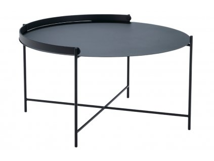Černý kovový konferenční stolek HOUE Edge 76 cm