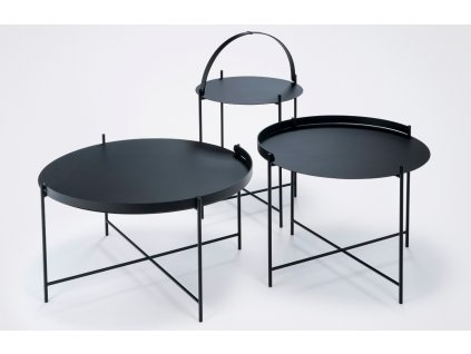 Černý kovový konferenční stolek HOUE Edge 62 cm