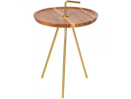 Akátový odkládací stolek Chavez 41 cm