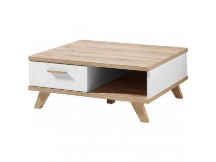 Konferenční stolek Germania GW-Oslo, bílá 80x80 cm