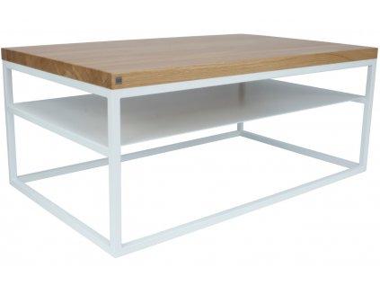 Přírodní dubový konferenční stolek Malmo large 100x60 cm