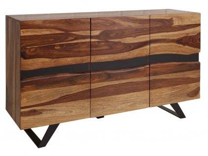 Masivní dřevěná komoda Tanzani 150x43 cm