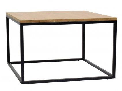 Dubový konferenční stolek FormWood Villa 75 x 75 cm s černou podnoží