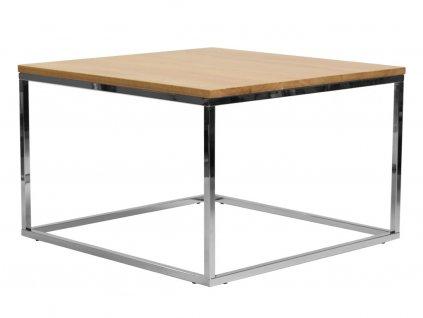 Dubový konferenční stolek FormWood Villa 75 x 75 cm s chromovou podnoží