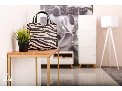 Dubový toaletní stolek FormWood Villa 100 x 35 cm s matnou  zlatou podnoží