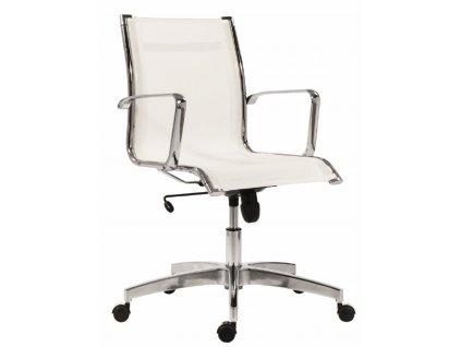 Bílá síťovaná kancelářská židle Stello Mesh