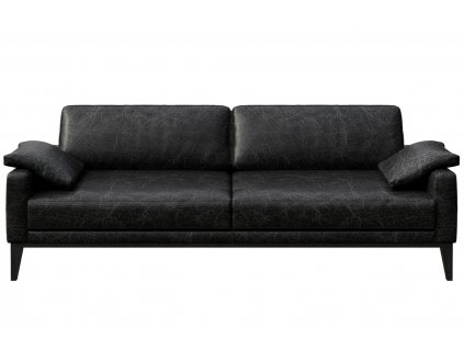 Černá vintage třímístná čalouněná pohovka MESONICA Musso 211 cmMesonica Musso 08A 3 2
