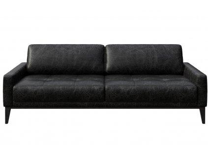 Černá vintage třímístná čalouněná pohovka MESONICA Musso Tufted 211 cmMesonica Musso 08B 3 2