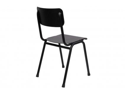 Černá dřevěná jídelní židle ZUIVER BACK TO SCHOOL OUTDOOR