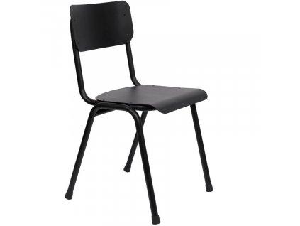 Černá dřevěná jídelní židle ZUIVER BACK TO SCHOOL OUTDOOR848x848 (2)