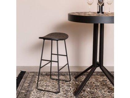 Černá dřevěná barová židle WLL TANGLE 65 cm