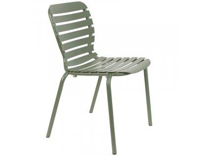 Zelená kovová zahradní židle ZUIVER VONDEL