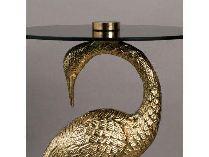 Zlatý kulatý odkládací stůl DUTCHBONE Crane 40 cm