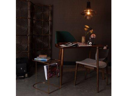 Zlatý odkládací stolek DUTCHBONE Eileen