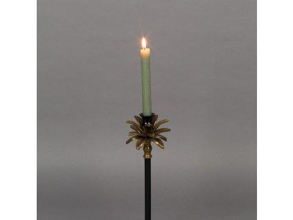Černo zlatý kovový svícen DUTCHBONE CRESTA