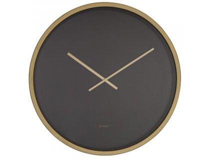 Nástěnné černo zlaté minimalistické hodiny ZUIVER BANDIT