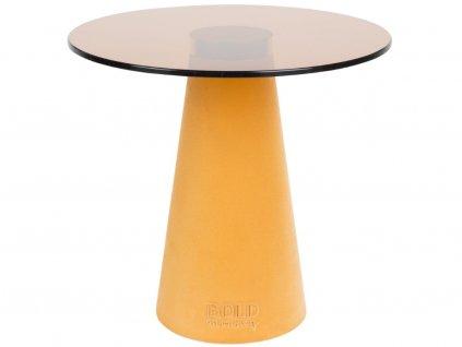 Žlutý skleněný odkládací stolek Bold Monkey Leader Of The Fanclub