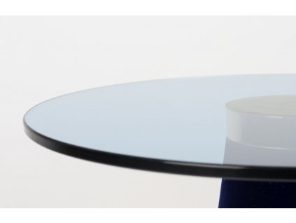 Modrý skleněný odkládací stolek Bold Monkey Leader Of The Fanclub
