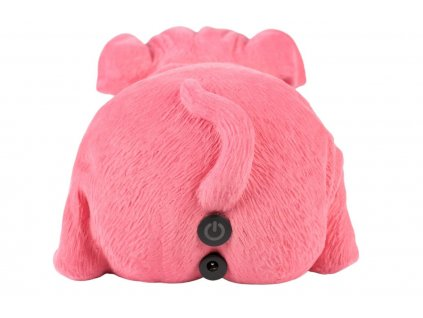 Růžová dekorativní svítící soška Bold Monkey Devilish Bulldog