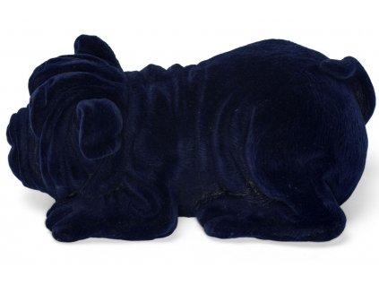 Modrá dekorativní svítící soška Bold Monkey Devilish Bulldog
