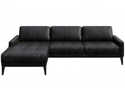 Černá vintage čalouněná rohová pohovka MESONICA Musso Tufted, levá, 248 cmMesonica Musso 08B 4L 2