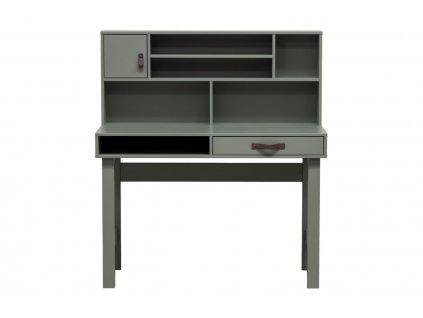 Zelený psací stůl Erniest 110 cm