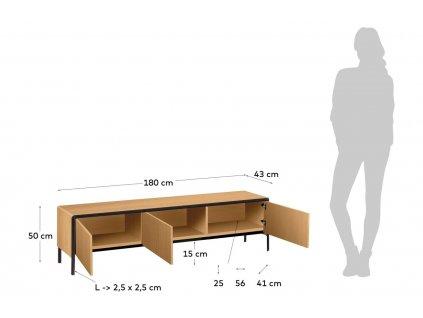 Dřevěný televizní stolek LaForma Nadyria