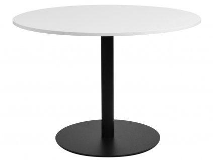 Bílý kulatý jídelní stůl FormWood 110 cm