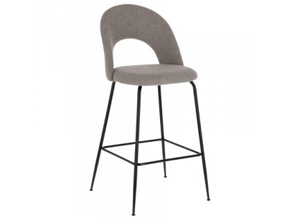Světle šedá látková barová židle LaForma Mahalia