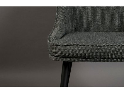 Šedá čalouněná jídelní židle DUTCHBONE Magnus