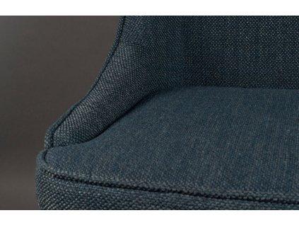 Tmavě modrá čalouněná jídelní židle DUTCHBONE Magnus
