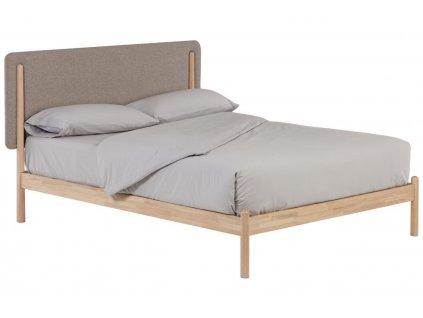 Přírodní postel s čalouněným čelem LaForma Shayndel 160 x 200 cm