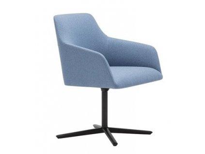 Světle modrá otočná jídelní židle Alya