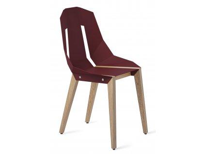 Hliníková židle Tabanda DIAGO s dubovou podnoží